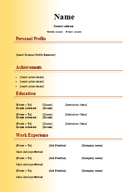 cv templates    free word downloads   cv writing tips   cv plazamodern cv template