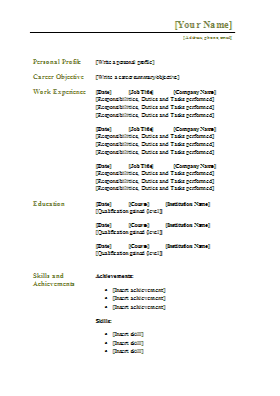 select template traditional resume example executive or ceo 7 resume ...