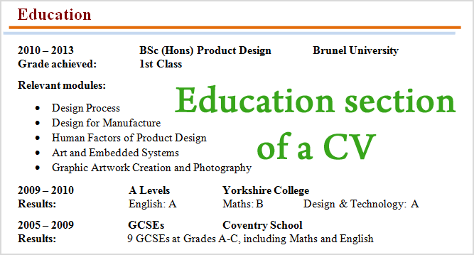 how-to-write-education-section-cv