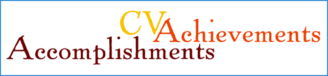 Accomplishments and achievements on cv