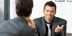 Maintaining eye contact during interview