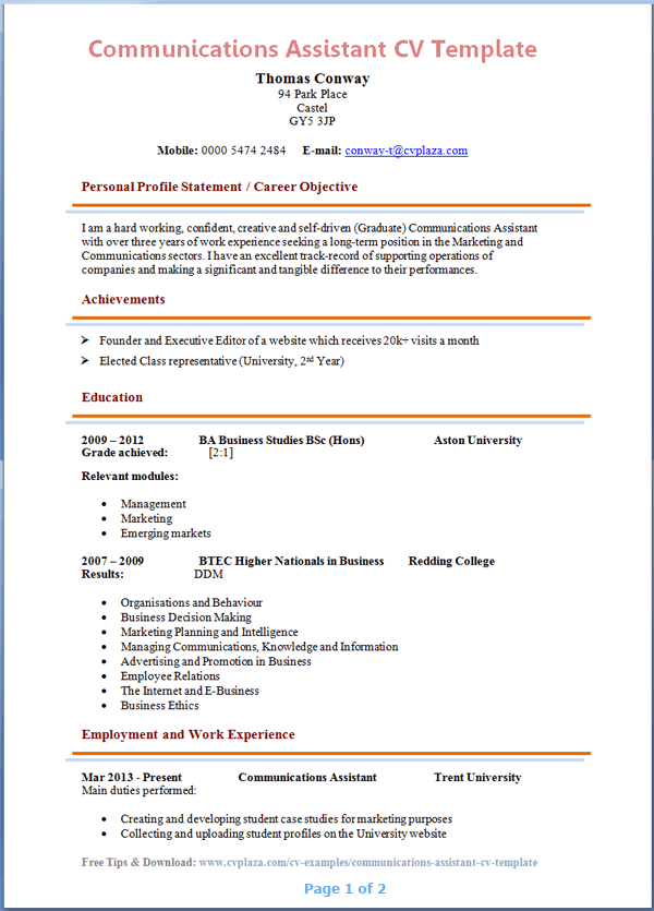 pdf teaching assistant cv template 2 book
