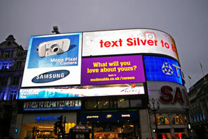 Example of advertising by big companies