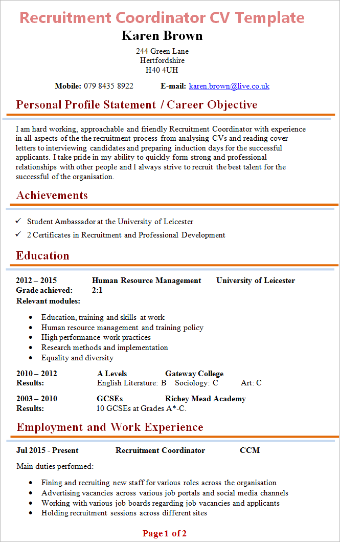 sample of teaching resumes