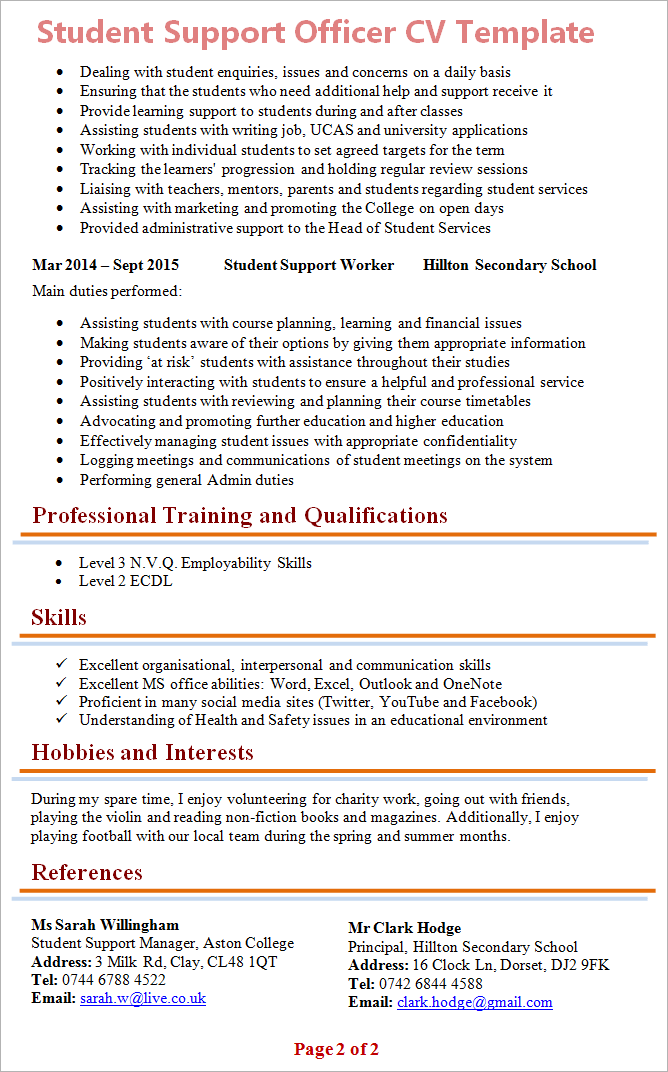 students cv thevillas co