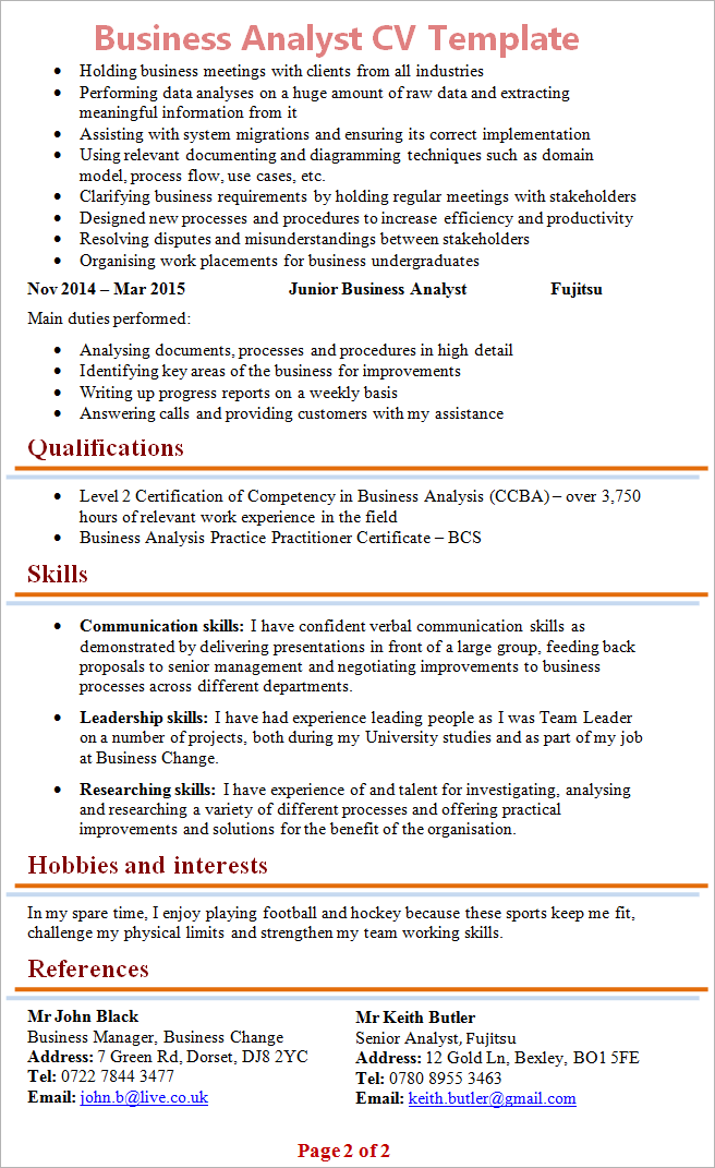 business-analyst-cv-template-2