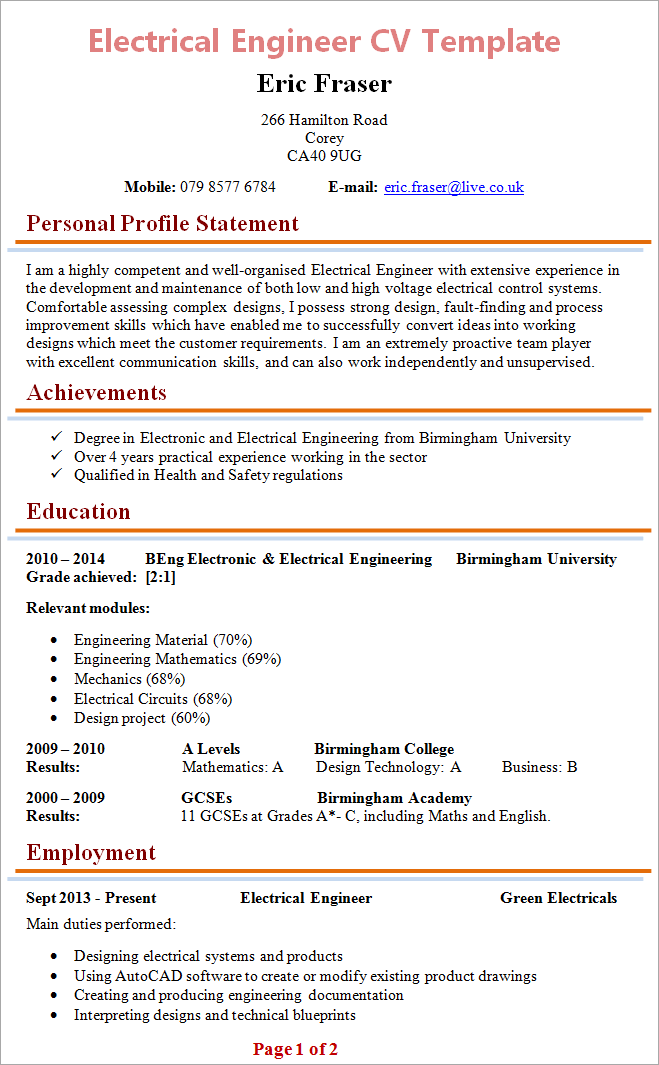 electrical-engineer-cv-template