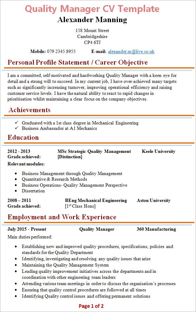 quality-manager-cv