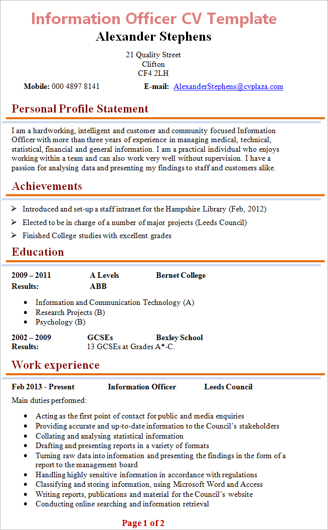 distribution clerk resume Cto Resume Sample Cio Resume
