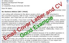 Email Cv Cover Letter